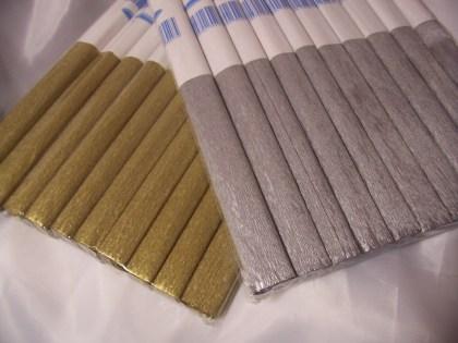 metál krepp papír -